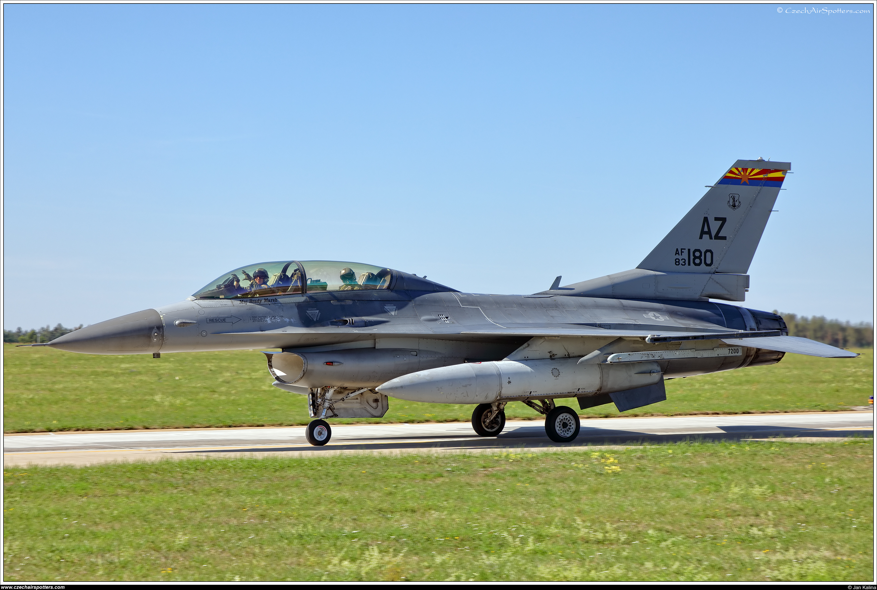 USA - Air Force – General Dynamics F-16D Fighting Falcon 83-1180